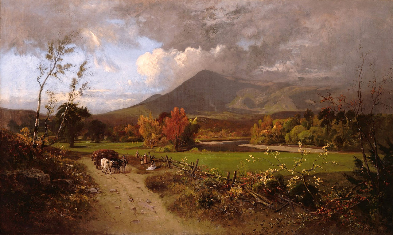 File White Mountains And Conway Meadows By William Keith
