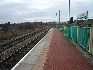 Whitwell railway station Railway station in Derbyshire, England