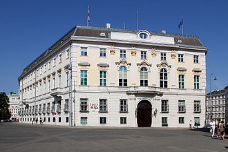 Chancellor of Austria - Federal Chancellery on Ballhausplatz, former Geheime Hofkanzlei