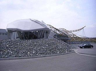 Wiesmann - Wiesmann's gecko logo was incorporated into the design of its factory in Dülmen, Germany.
