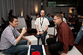 Wikimania 2009 - Chatting at Codeathon.jpg