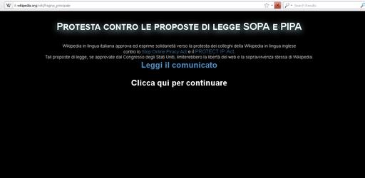 Wikipédia italien protestation