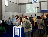 Wikipedia-Stand auf der Jugendmesse YOU Berlin (6597).jpg