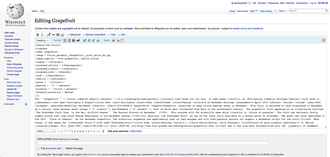 The editing interface of Wikipedia Wikipedia editing interface.png