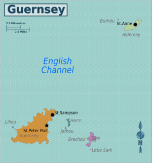 Guernsey England Map.Guernsey Travel Guide At Wikivoyage
