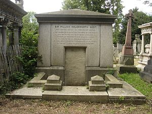 Sir William Molesworth, 8th Baronet - Funerary monument, Kensal Green Cemetery, London