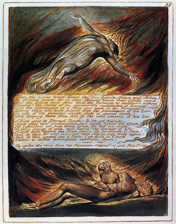 [Image: 600px-William_Blake_-_The_Descent_of_Chr...A02221.jpg]