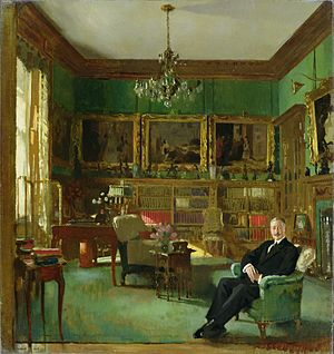 49 Belgrave Square - Sir Otto Beit in his study at 49 Belgrave Square by William Orpen, 1913, Johannesburg Art Gallery
