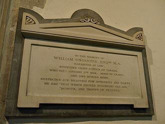 William Osgoode - Memorial, St Mary's, Harrow on the Hill