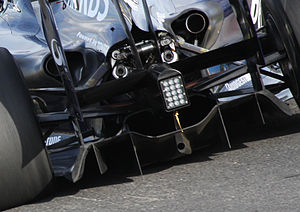 Williams FW31 - The design of the FW31's diffuser caused controversy when the chassis was launched, but was later cleared by the FIA.