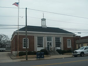 Williamston Commercial Historic District - US Post Office, March, 2015