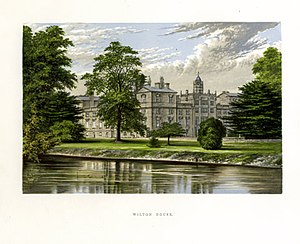 Wilton House - Engraving of Wilton House