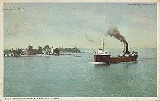 Grosse Pointe Park, Michigan - Windmill Pointe, circa 1900s