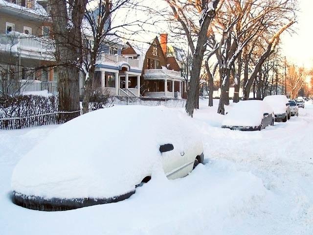 Winnipeg snowstorm aftermath