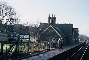 Winslow railway station - Station buildings in 1985