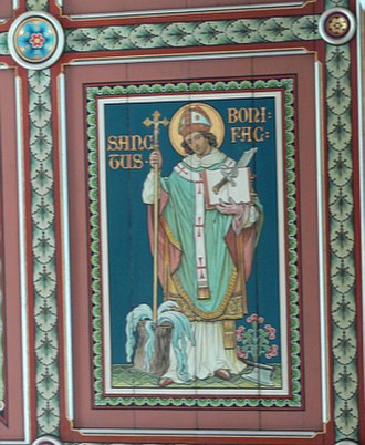 Pope Gregory II - St Boniface, whom Gregory sent to Germany to begin missionary work there