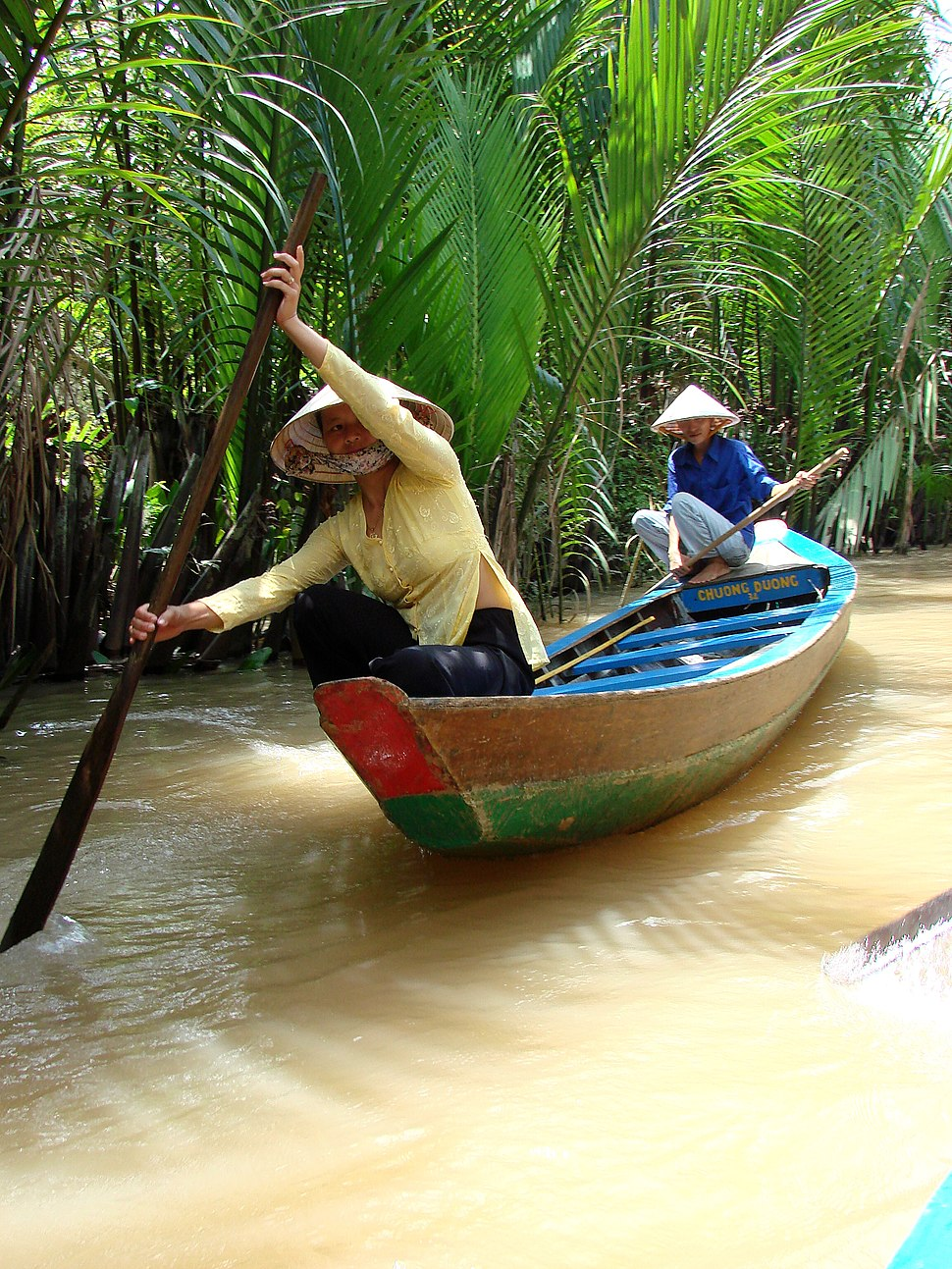 Women Rowing - My Tho - Vietnam