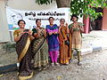 Women Wikipedians at Tamil Wikipedia 10 years celebration మహిళా వికీపీడియనులు, తమిళ వికీపీడియా 10 వ వార్షికోత్సవ సంబరాలు 1.jpg