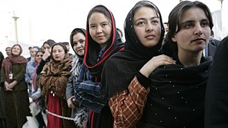 Human rights in Afghanistan - Women constitutionally have equal rights to men, which were severely restricted in the Taliban regime