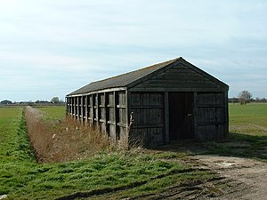 Wooden barn, Masterdyke, Sutton St James. This...