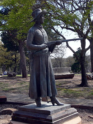 Woolaroc - Statue of Belle Starr at Woolaroc