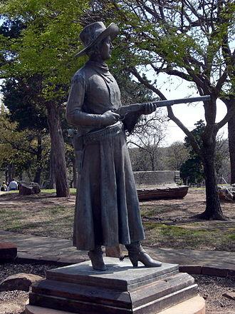 Woolaroc - Statue of Belle Starr at Woolaroc