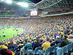 Australia at the Rugby World Cup - The opening game at Telstra Stadium between Australia and Argentina in 2003.
