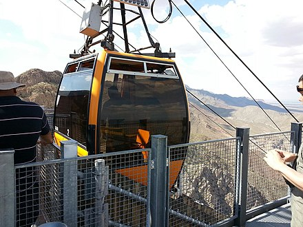 The Wyler Aerial Tramway in the Franklin Mountains is the only commercial tramway in the state of Texas. Wyler Aerial Tramway2.jpg