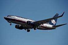 un Boeing 737-700 in vecchia livrea