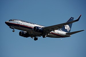 Aeroméxico Flight 576 - An AeroMéxico Boeing 737-752, similar to the aircraft involved in the hijacking.