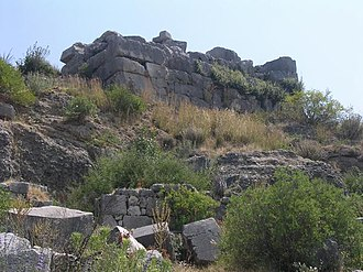 Xanthos - Original podium of the Nereid Monument at Xanthos.
