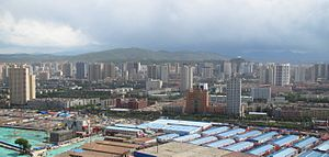 Xining - View of partial Xining skyline from the north