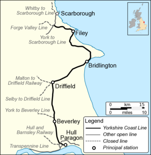 Hull–Scarborough line railway line in northern England