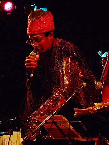 English: Yahya Abdul-Majid of the Sun Ra Arkestra