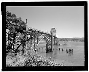 James B. Norman -  Yaquina Bay Bridge in Newport, Oregon, photographed for HAER by James B Norman