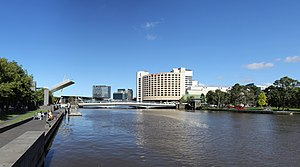 Spencer Street, Melbourne - Image: Yarra River & Spencer Street Bridge