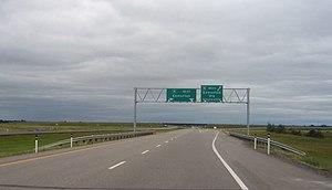 Alberta Highway 16 - Westbound Highway 16 near Vegreville