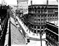 Yonge Street, looking north from Customs House at Front Street.jpg