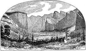 Early California artists - Image: Yosemite Valley 1st Sketch Thomas Ayres 1855
