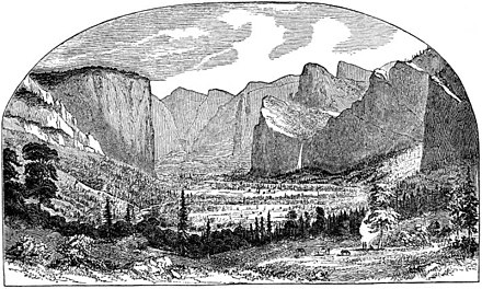 The First Picture of Yosemite Valley by Thomas Ayres, 1855 YosemiteValley1stSketchThomasAyres1855.jpg