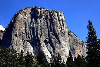 El Capitan - Southwest face of El Capitan from Yosemite Valley