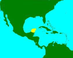 Karte von Yucatán