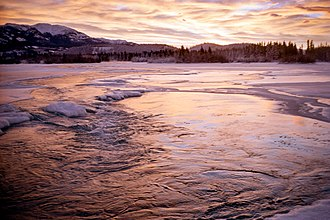 Yukon River - View of the Yukon River near Whitehorse, Yukon