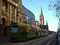 Z3 199 (Melbourne tram) in Swanston St on route 67, March 2003.jpg