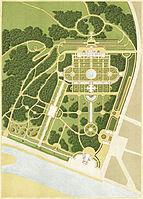 Zanth, Karl Ludwig von, Plan der Wilhelma von 1855 (ohne Beschriftung).jpg