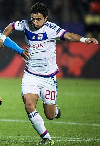 Rafael (footballer, born 1990) - Rafael playing for Lyon in 2015
