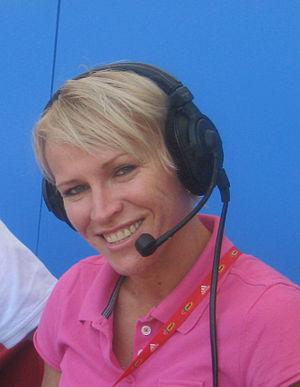 Zita Ajkler - Ajkler working as a commentator at the 2010 European Athletics Championships.