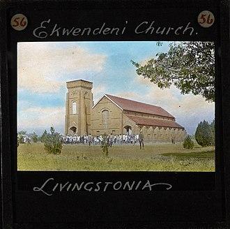 Ekwendeni - Ekwendeni Church, Livingstonia, Malawi, ca.1895
