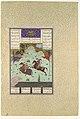 """The Fifth Joust of the Rooks- Ruhham Versus Barman"", Folio 342v from the Shahnama (Book of Kings) of Shah Tahmasp MET DP107158.jpg"