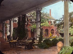 "Tobias Lear - ""Wellington,"" Malcolm Matheson house, Fox Hunt Road, Alexandria, Virginia, by Frances Benjamin Johnston, 1931. Built in the 18th century for Colonel Tobias Lear; from his death in 1818, owned by descendents of George Washington"